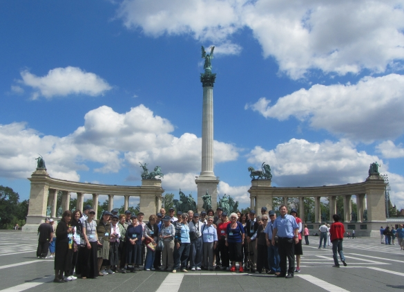 Budapest group at Heroes Square