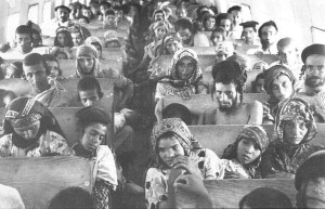 Yemenite Jews en route to Israel from Aden, Yemen - from Wikipedia https://en.wikipedia.org/wiki/Operation_Magic_Carpet_(Yemen)