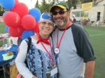 With my wonderful husband AJ on July 4th at AACI's celebration at Kraft Stadium