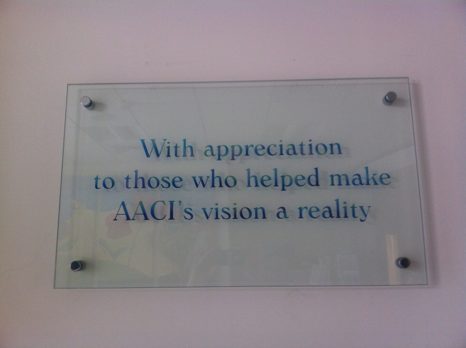 Thanks to everyone who continues to help make AACI a reality